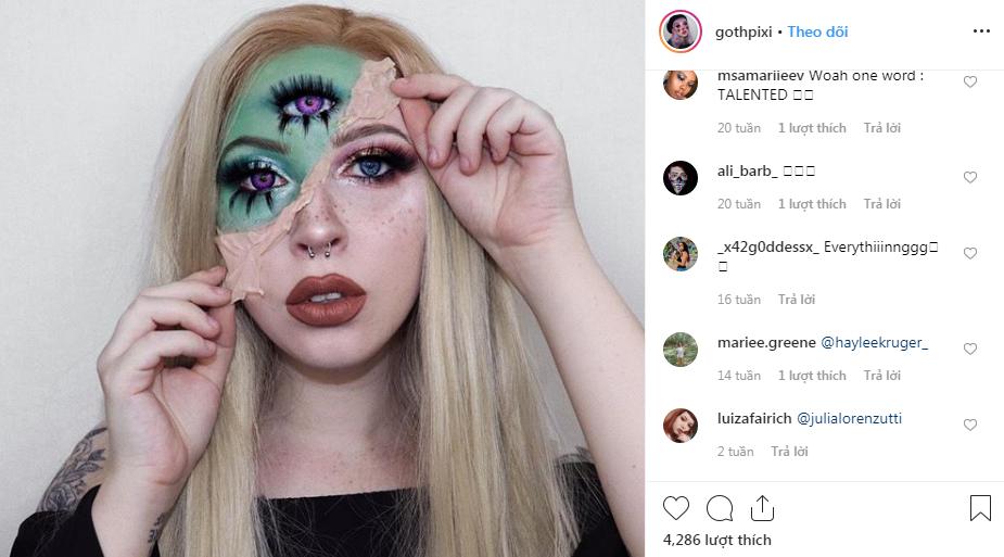 nghệ sĩ trang điểm instagram 15
