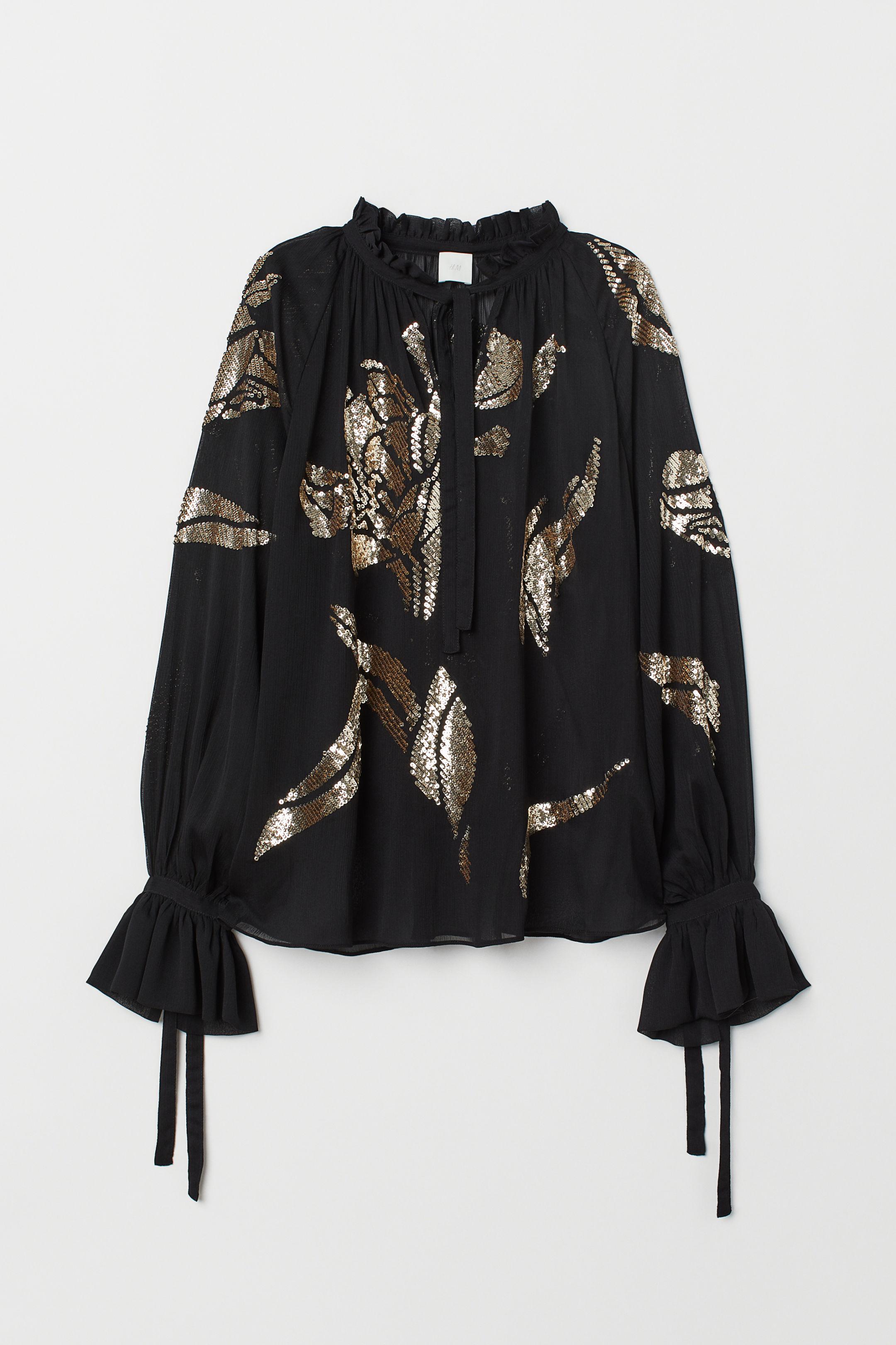 áo blouse sherr H&M