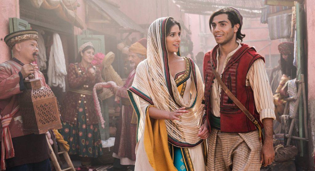 thời trang trong phim aladdin công chúa jasmine và aladdin