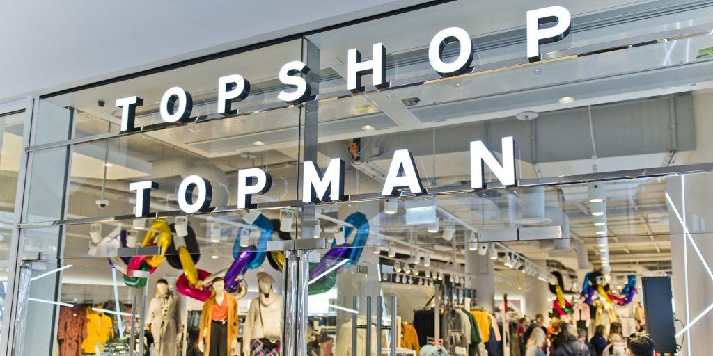 top shop top man đóng cửa