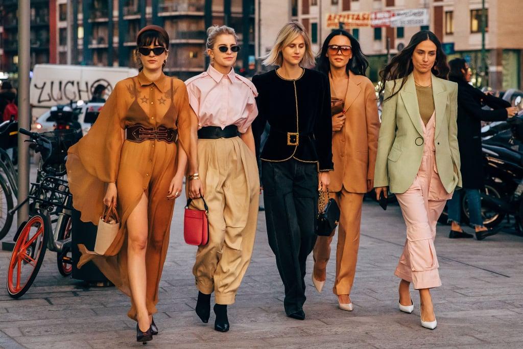 tín đồ thời trang tại tuần lễ thời trang milan