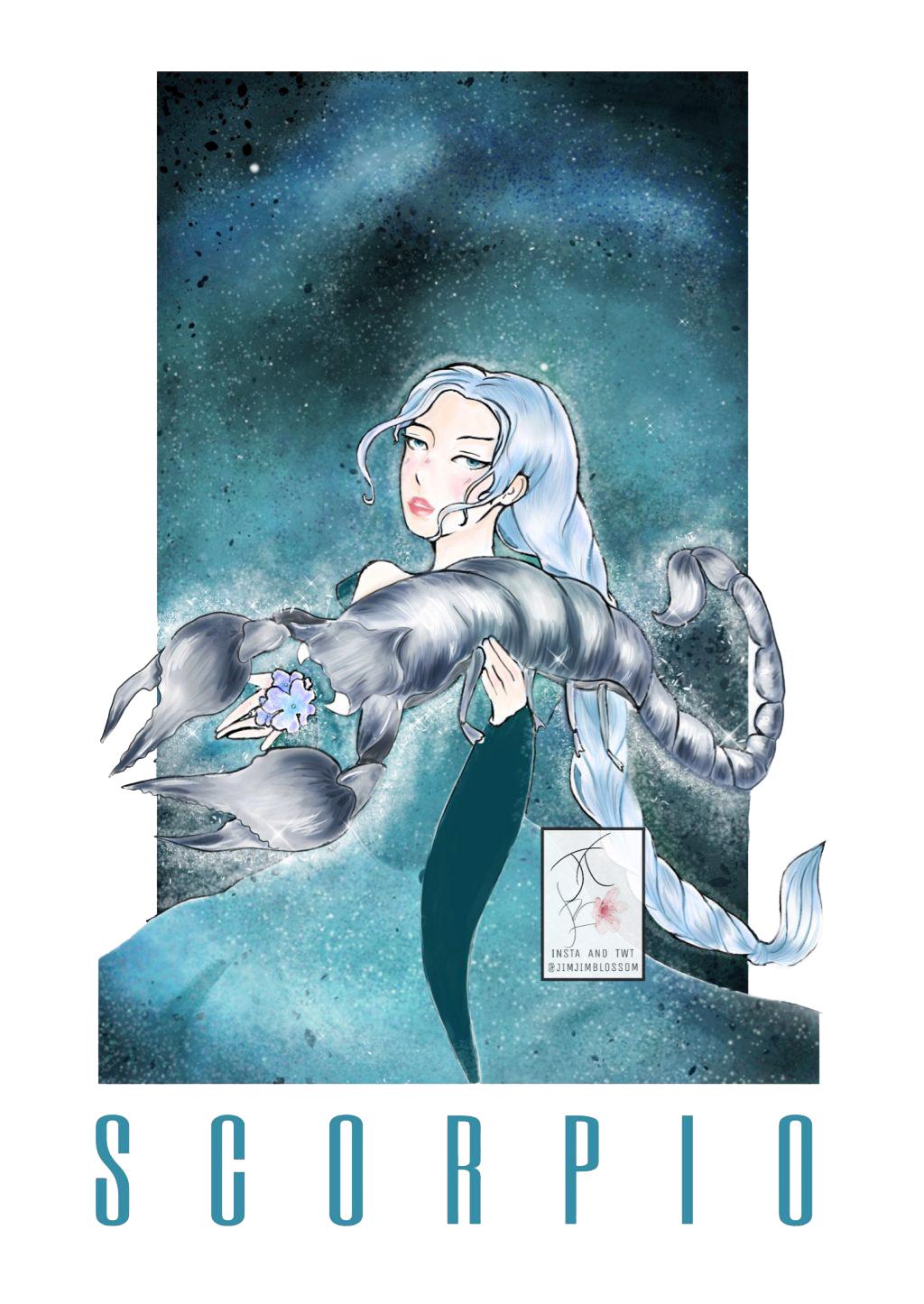 Cung hoàng đạo Thiên Yết với hình tượng cô gái và con bọ cạp