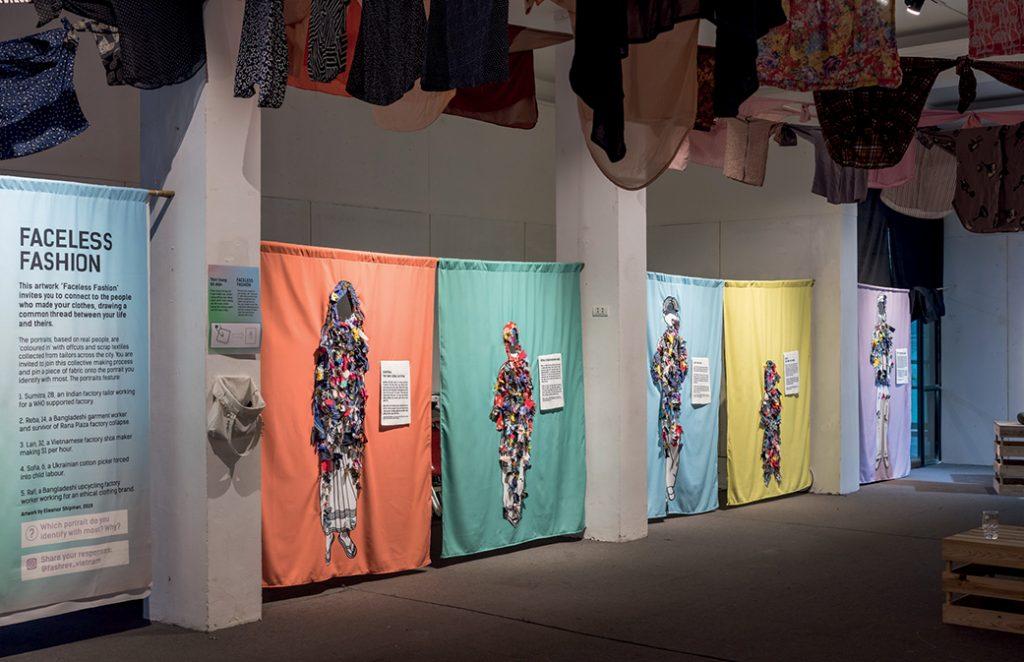 triển lãm fashion revolution ở Hà Nội về góc khuất công nghiệp thời trang