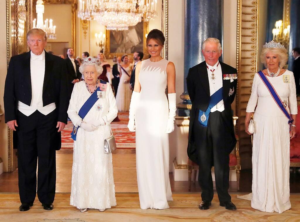 phu nhân Melania Trump và gia đình hoàng gia ANh