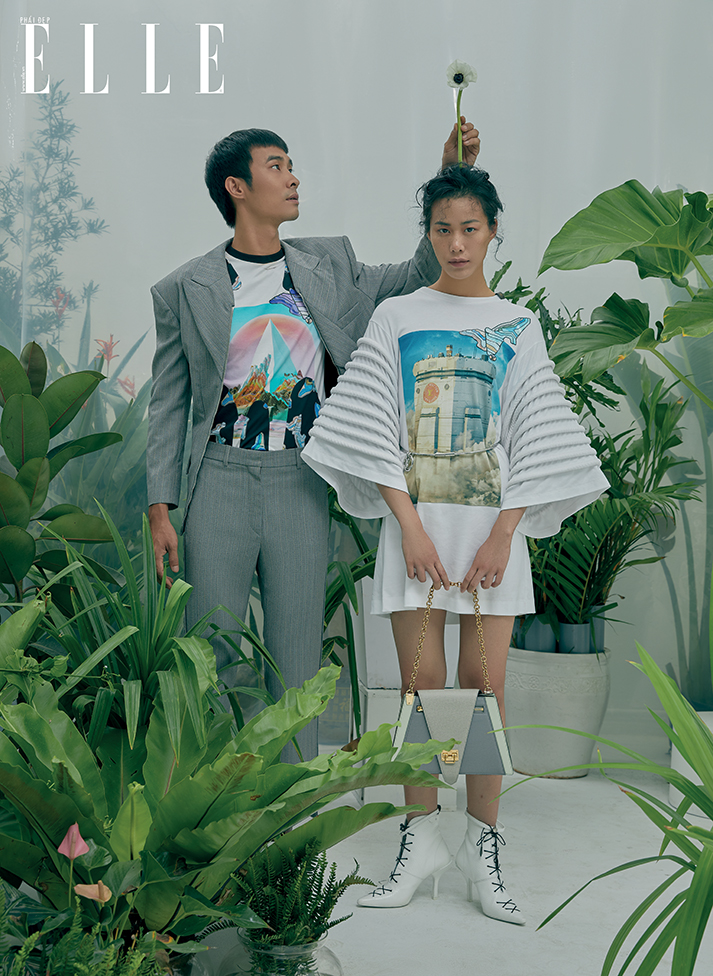 cặp đôi diện trang phục xuân hè 2019 của Louis Vuitton