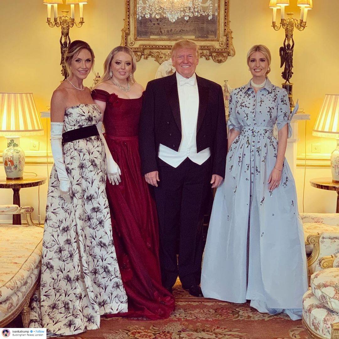 Ivanka Trump, Donald Trump, Tiffany Trump tham dự buổi chiêu đãi tại cung điện buckingham
