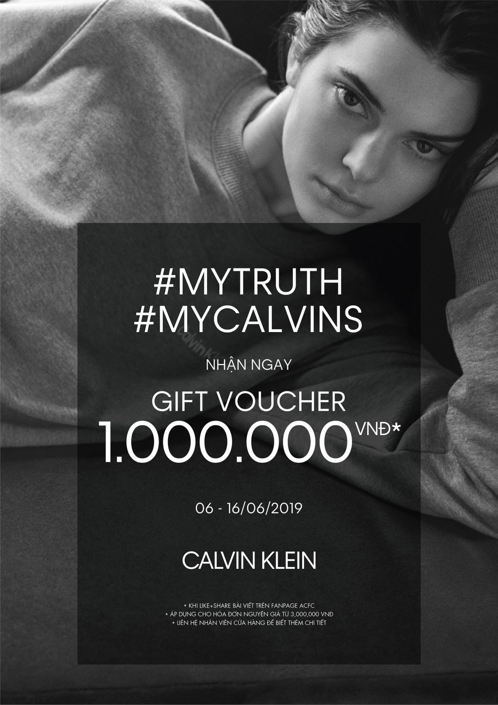 kendall jenner chiến dịch #MYCALVINS