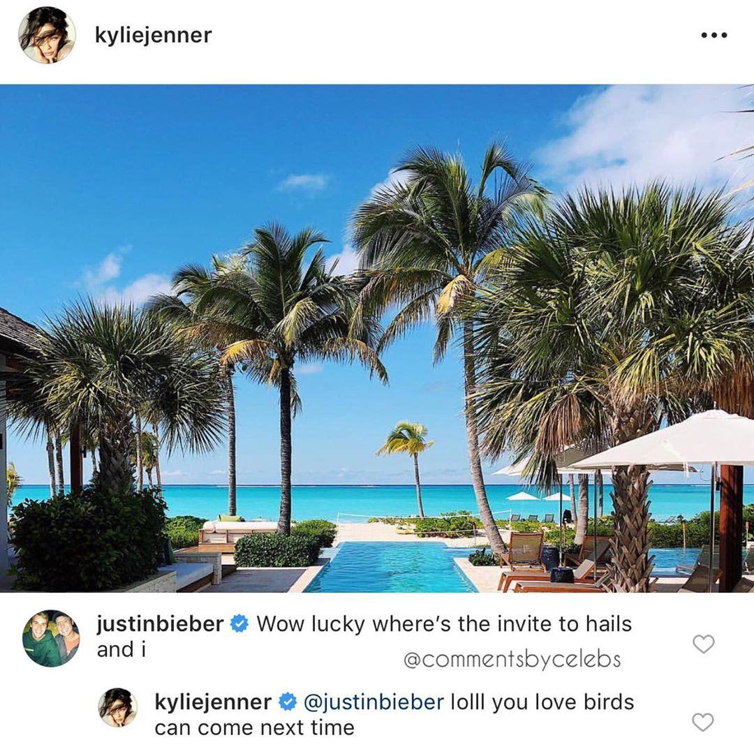 Justin comment trên Instagram của Kylie Jenner