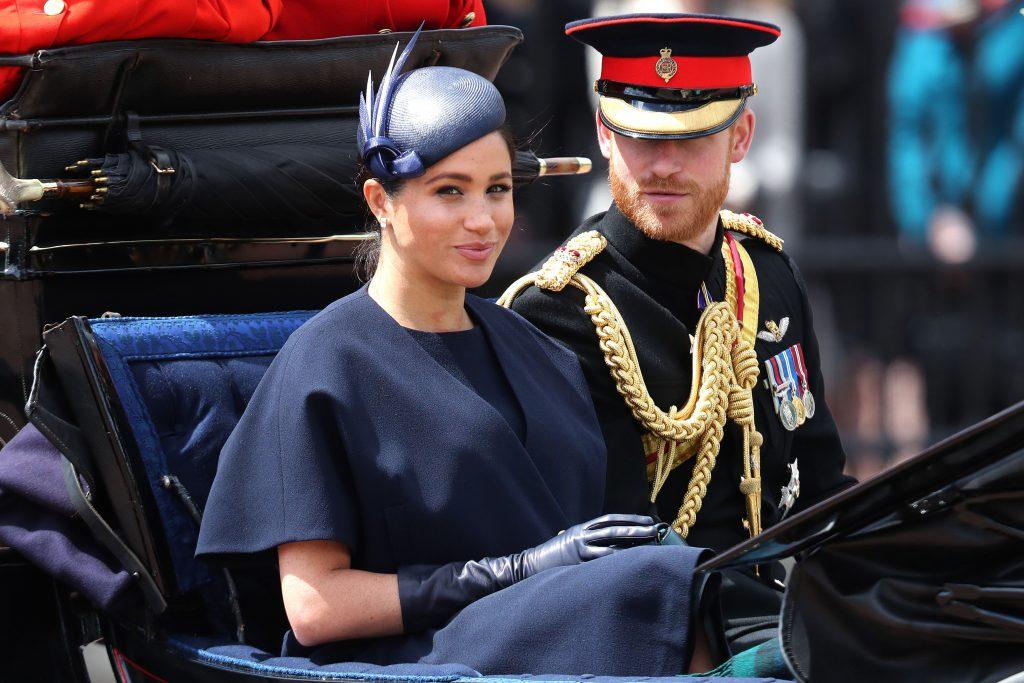 công nương meghan và hoàng tử harry trooping the colour 2019 3