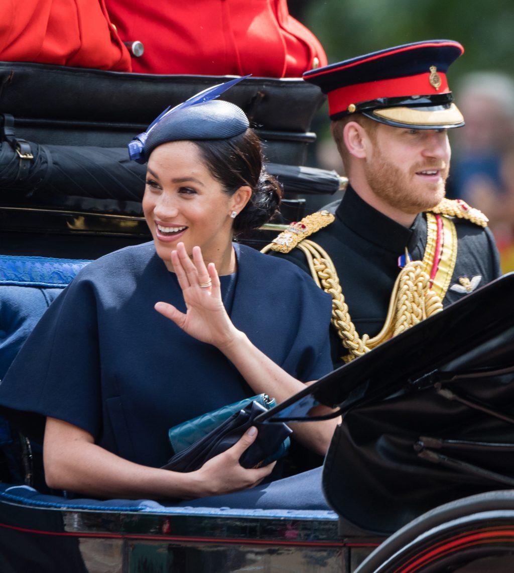 công nương meghan và hoàng tử harry trooping the colour 2019 2
