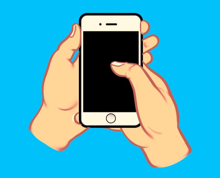 tính cách qua cách cầm điện thoại 03