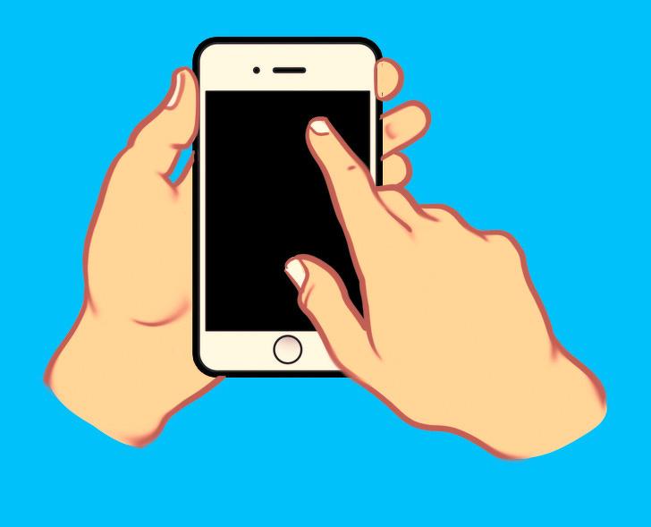 tính cách qua cách cầm điện thoại 05