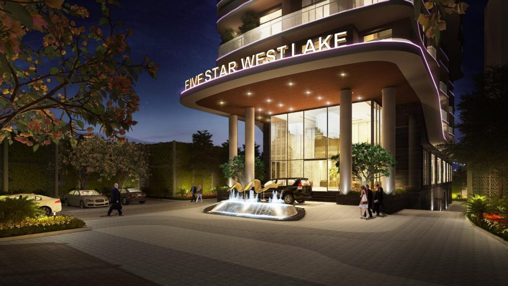 mặt tiền Five Star West Lake