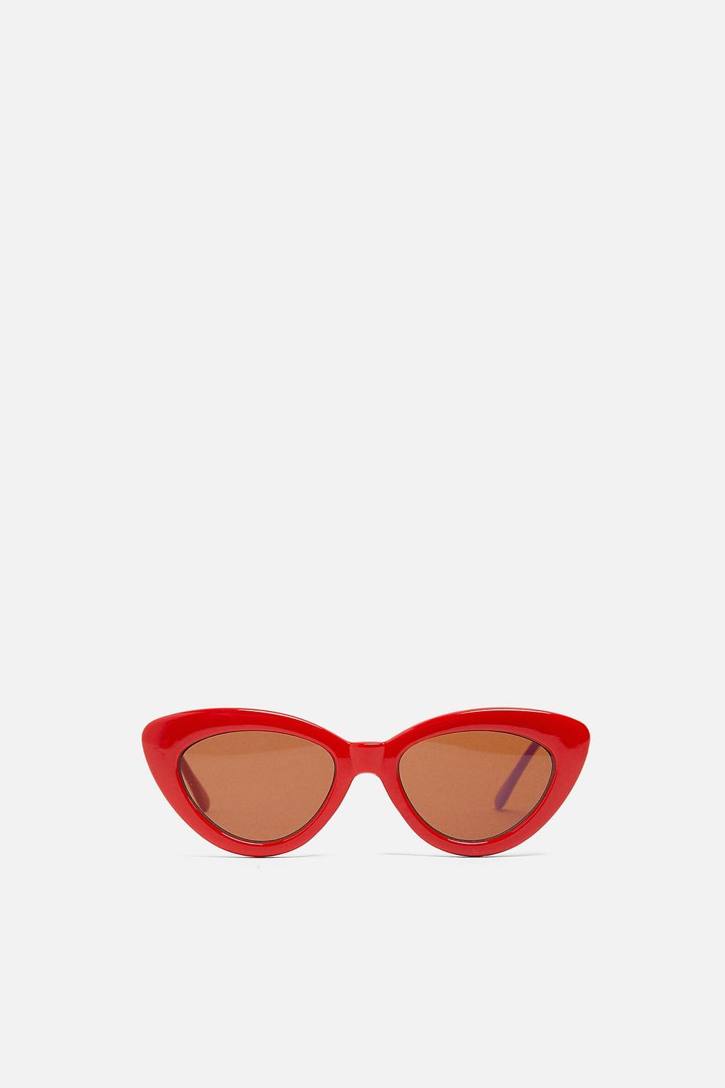 kính mát mùa Hè kính mắt mèo màu đỏ của thương hiệu zara