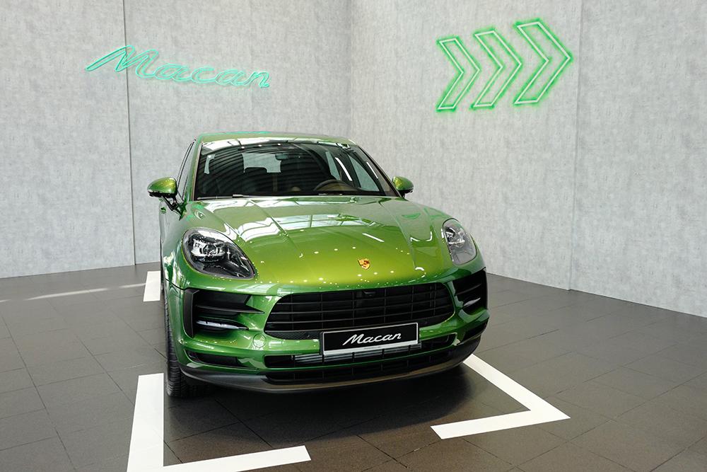 Porsche Macan 2019 màu Mamba Green Metallic
