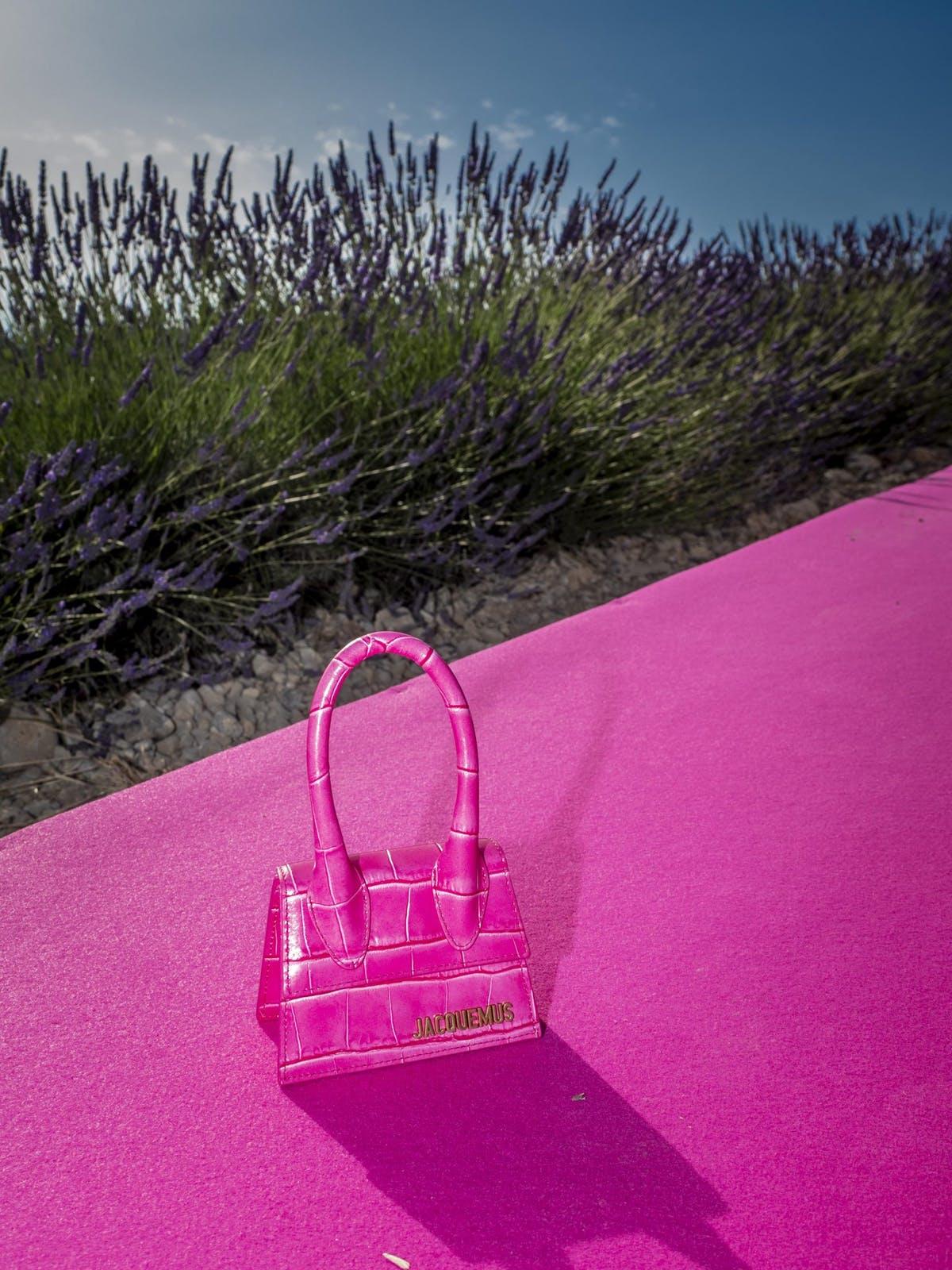 túi xách Jacquemus Xuân - Hè 2020 màu hồng
