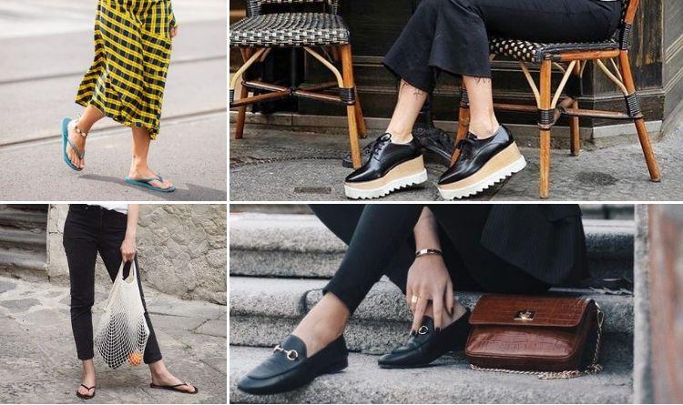 Cô gái Anh mang loafer và brogues thay cho flip flop
