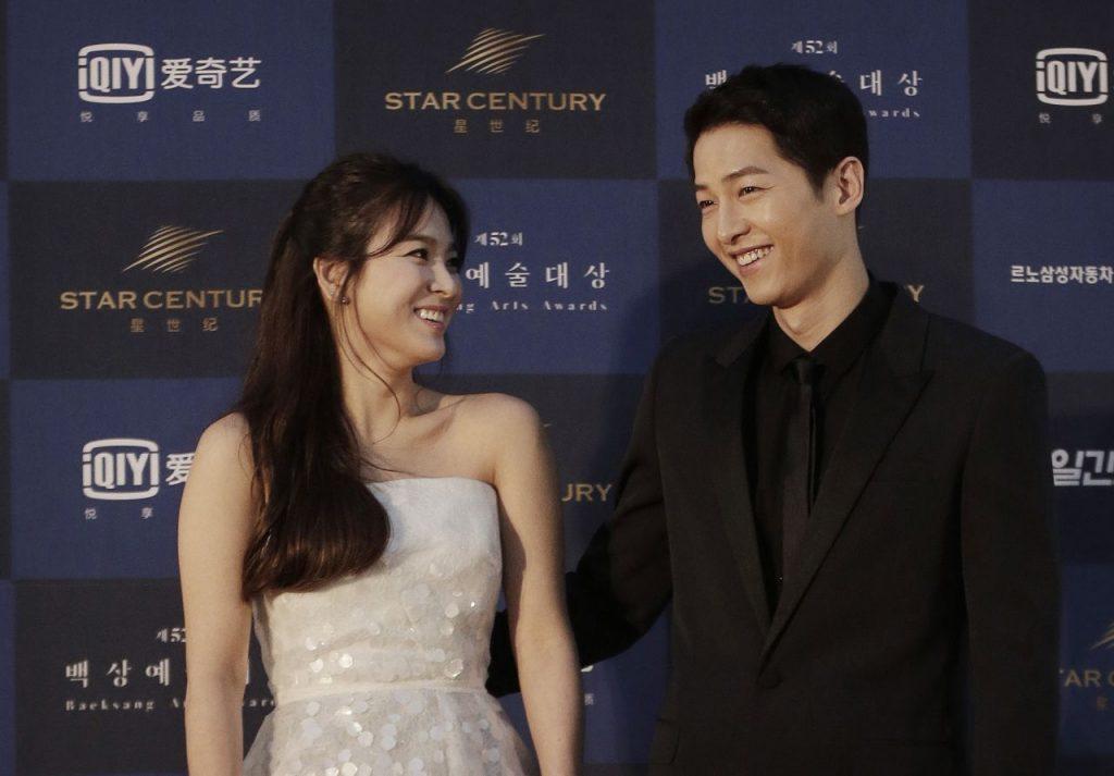 song hye kyo song joong ki nhìn nhau cười