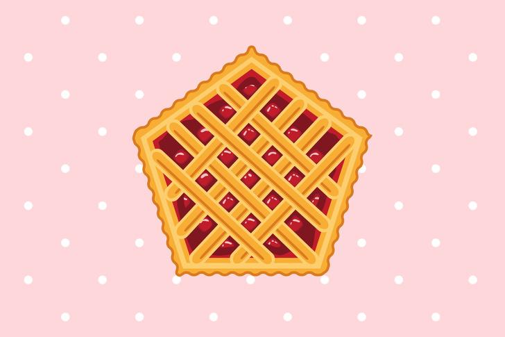 chiếc bánh hình ngũ giác
