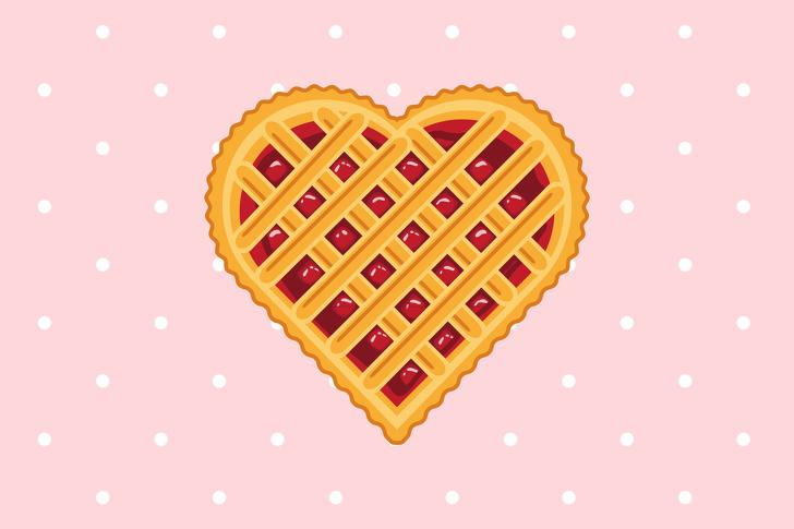 chiếc bánh hình trái tim
