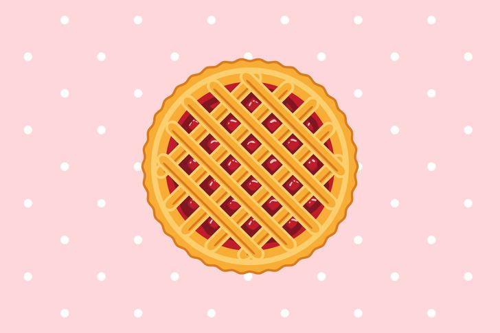 chiếc bánh hình tròn