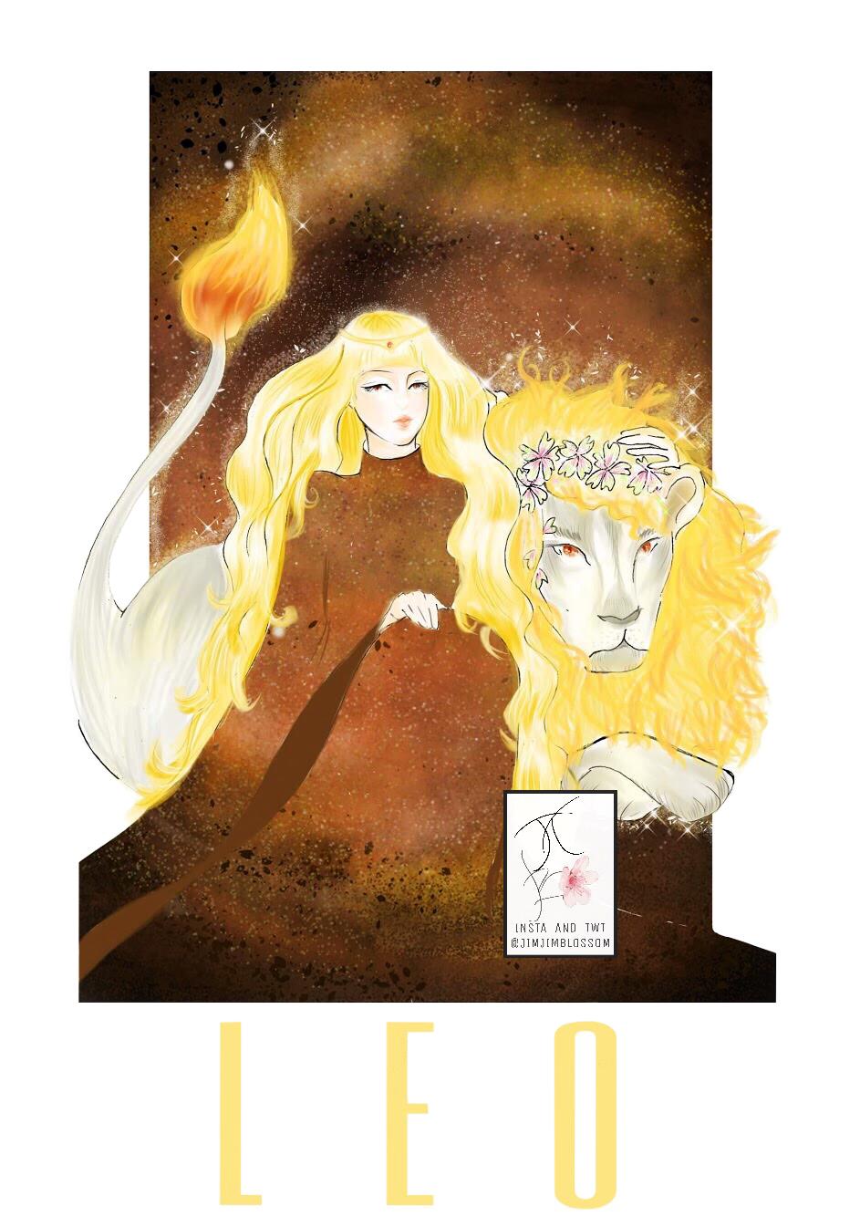 Cô gái tóc vàng ngồi cạnh con sư tử