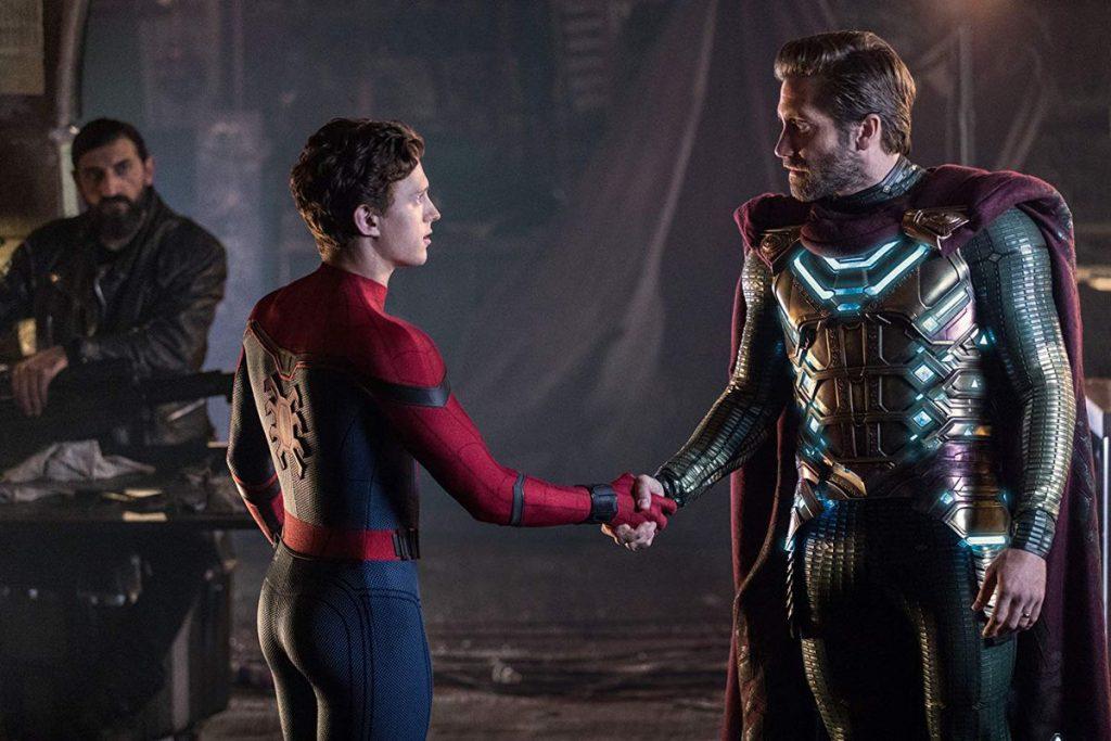 người nhện bắt tay mysterio