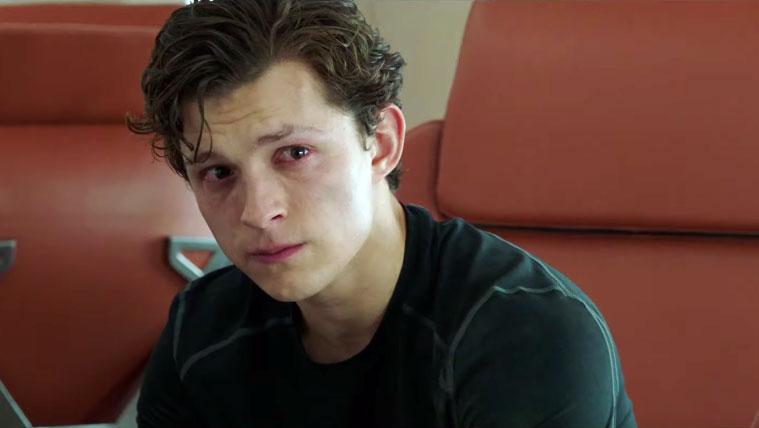 peter parker khóc