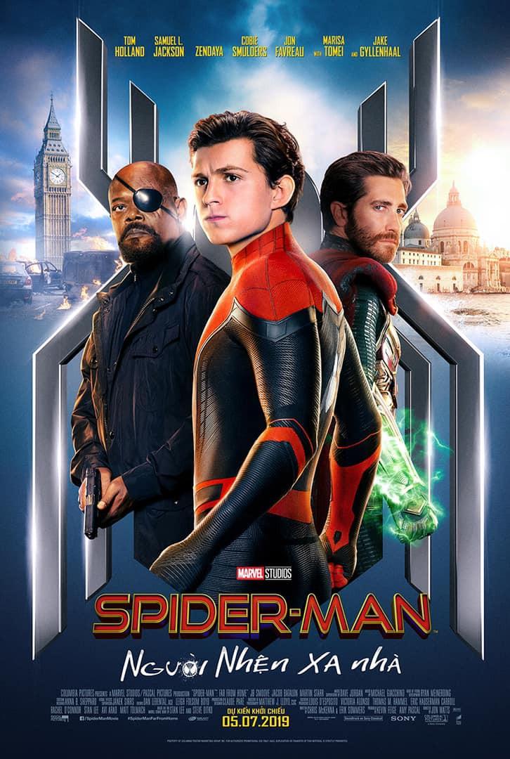 poster người nhện xa nhà