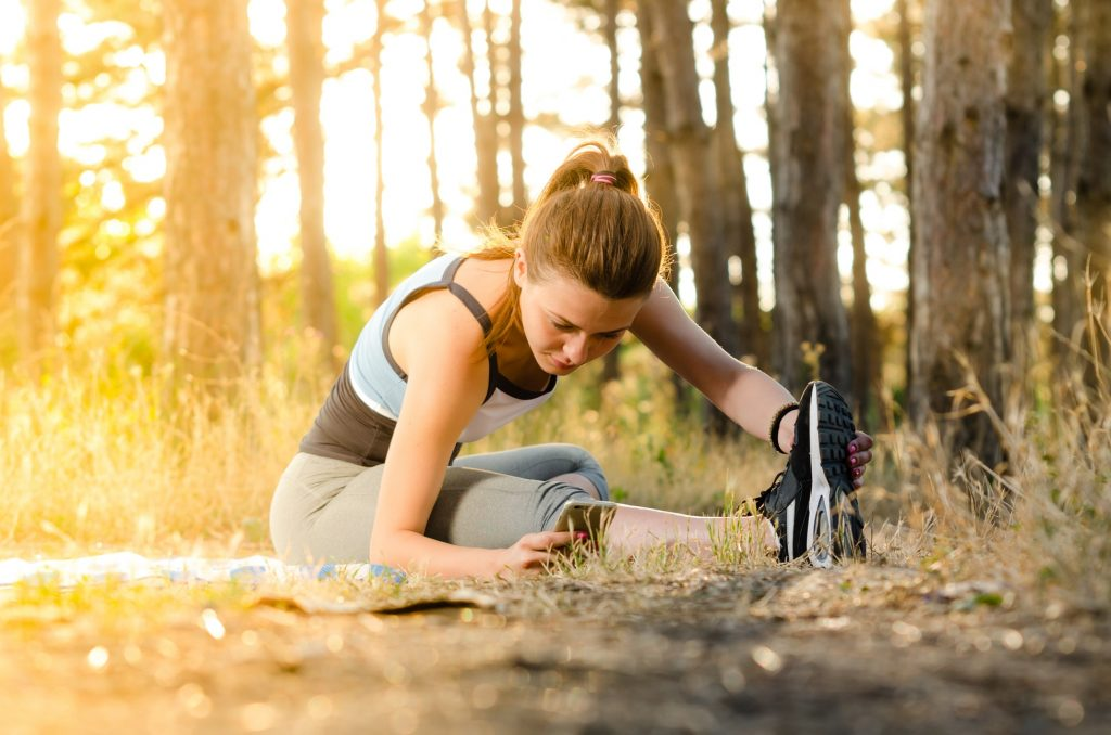 cô gái tập thể dục