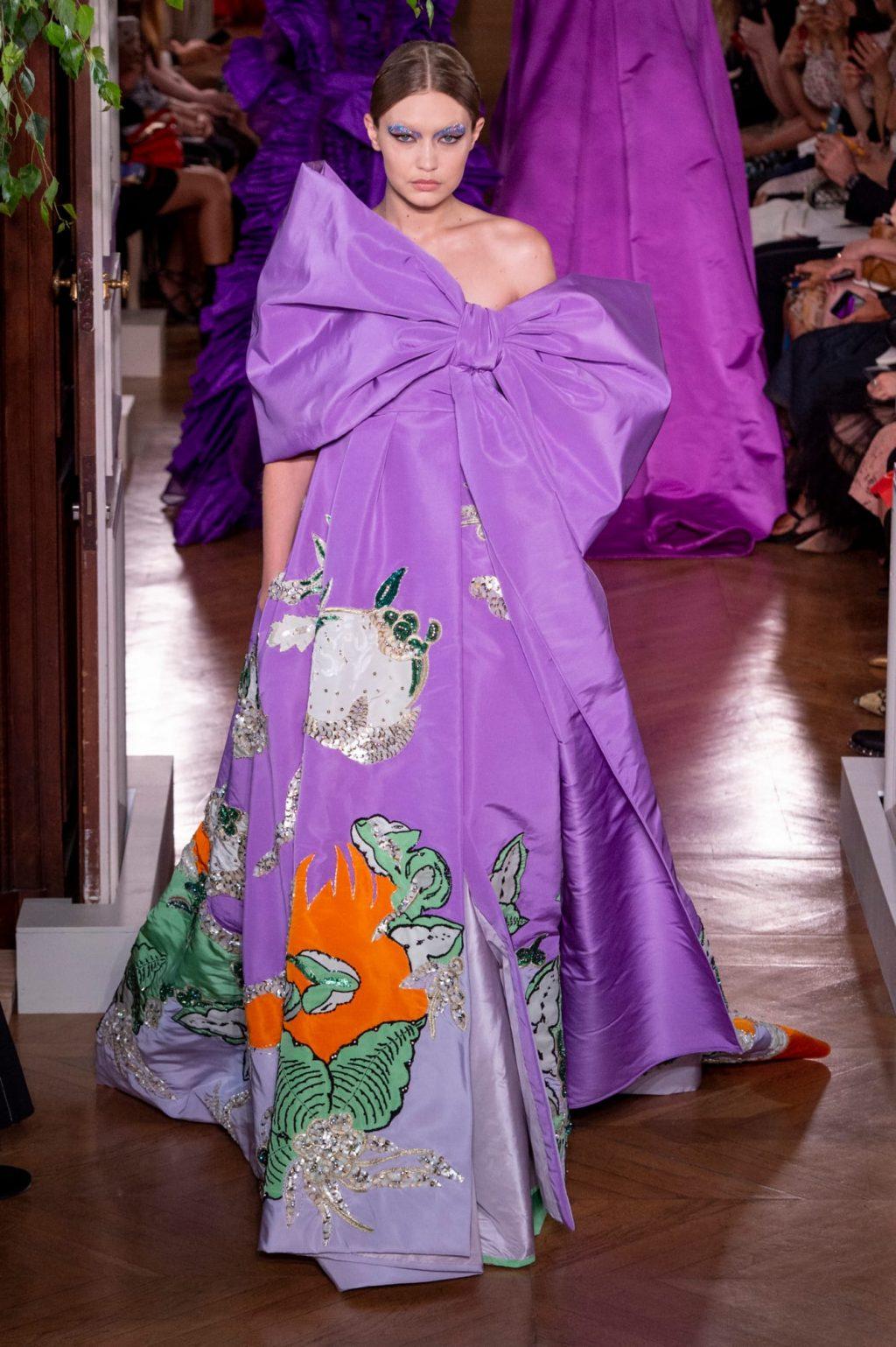 gigi hadid bộ sưu tập haute couture valentino thu đông 2019 4