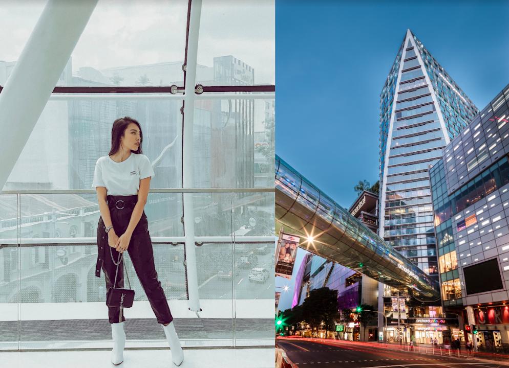 mua sắm singapore cùng linn nguyễn tại orchard gateway