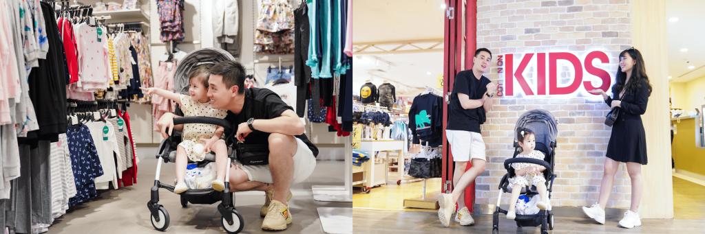 vlogger kiên hoàng và vợ loan hoàng cùng con gái tại united square mall singapore