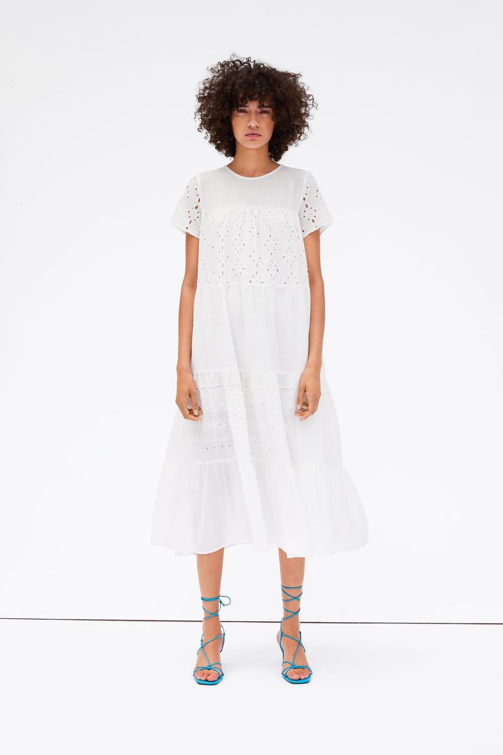 Váy hoa trắng ZARA