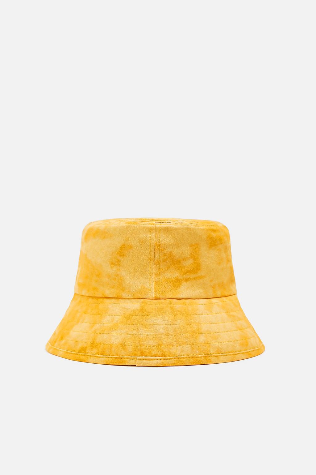 mũ xô màu vàng zara