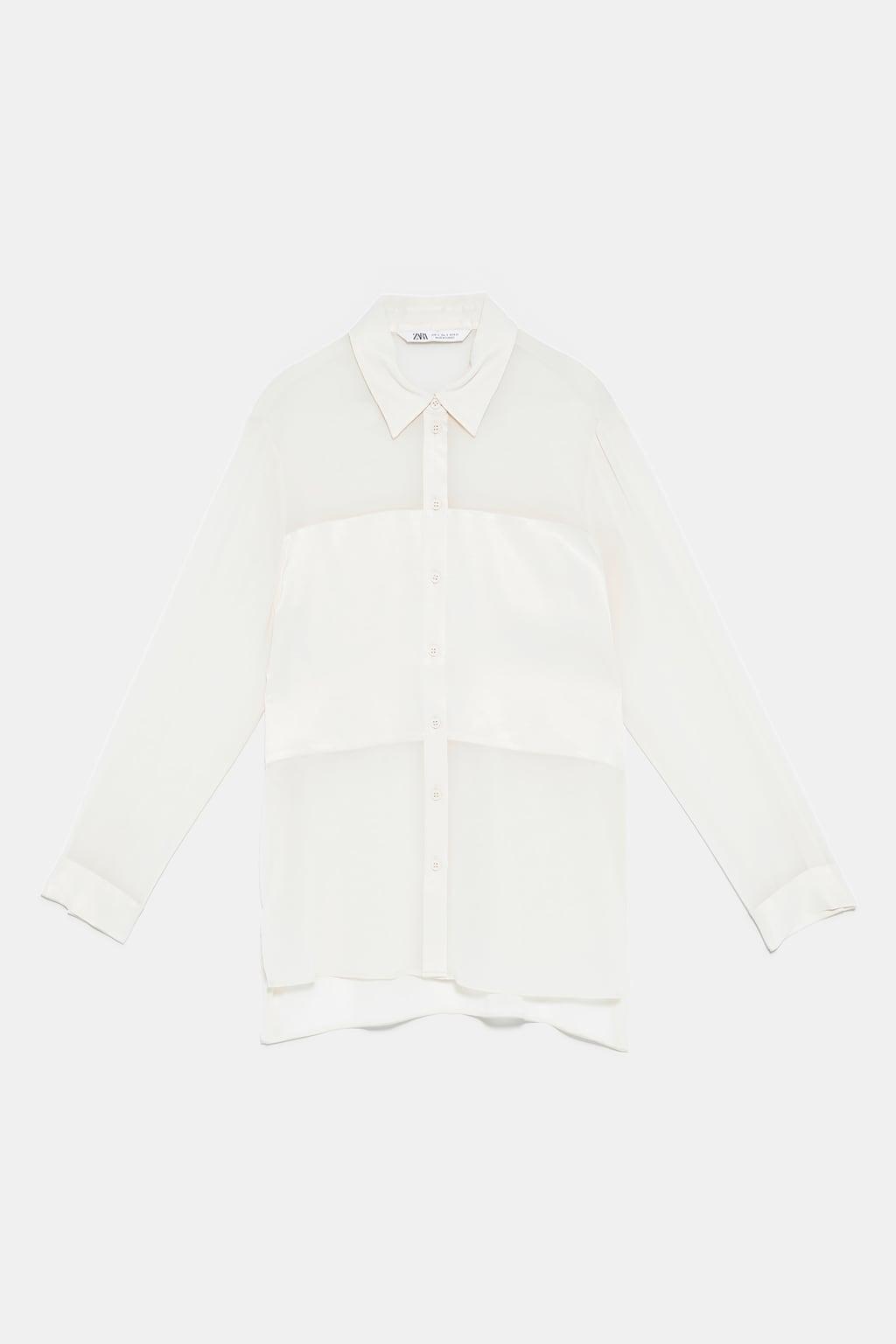 áo sơmi trắng zara