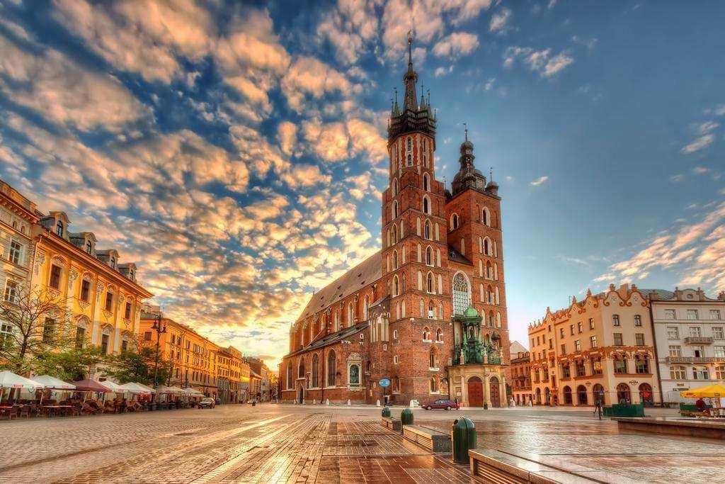 quảng trường ở krakow