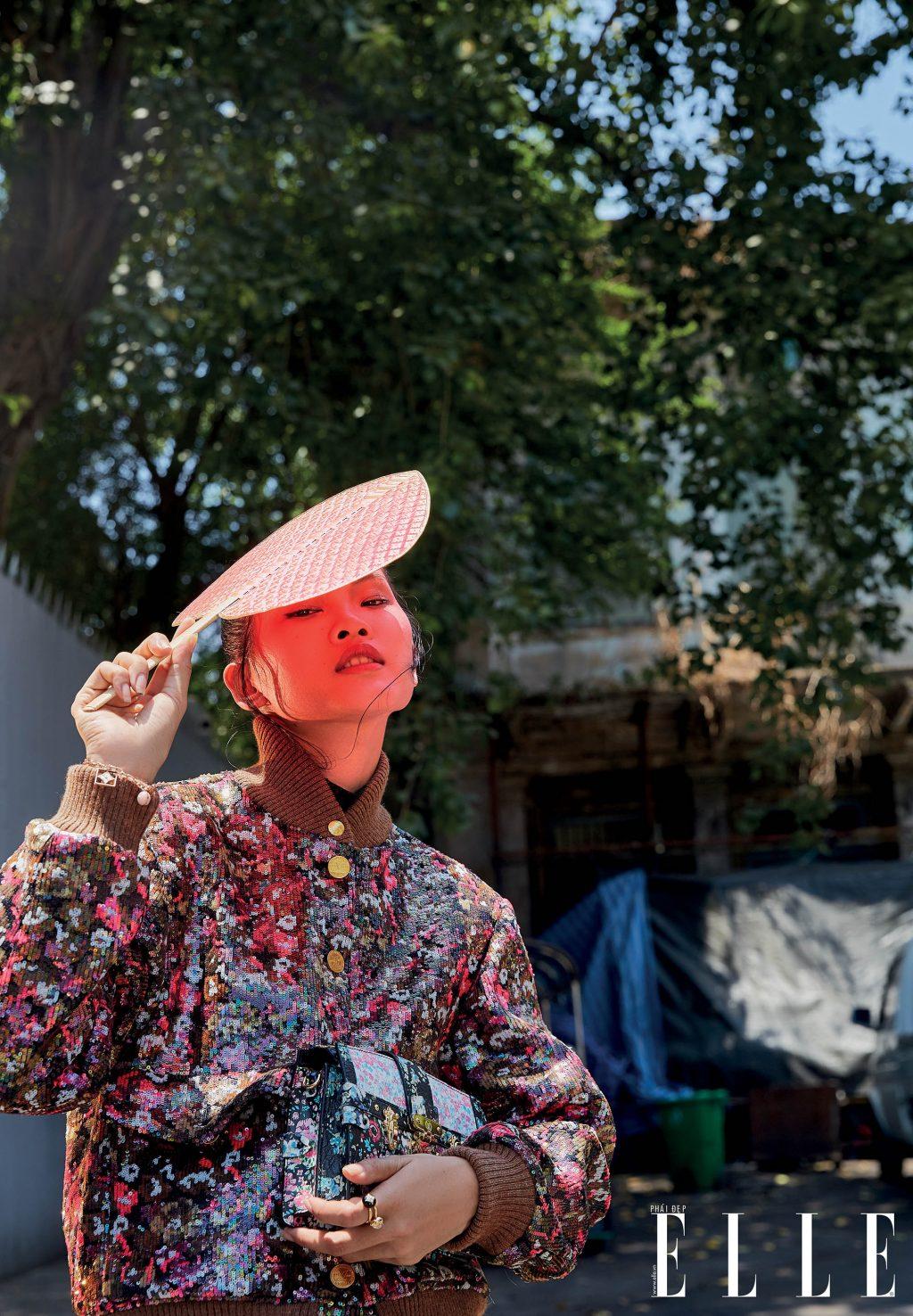bộ ảnh thời trang bangkok vàng nắng - áo khoác họa tiết