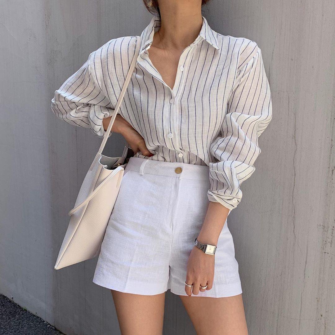 Phối quần shorts theo phong cách smart casual