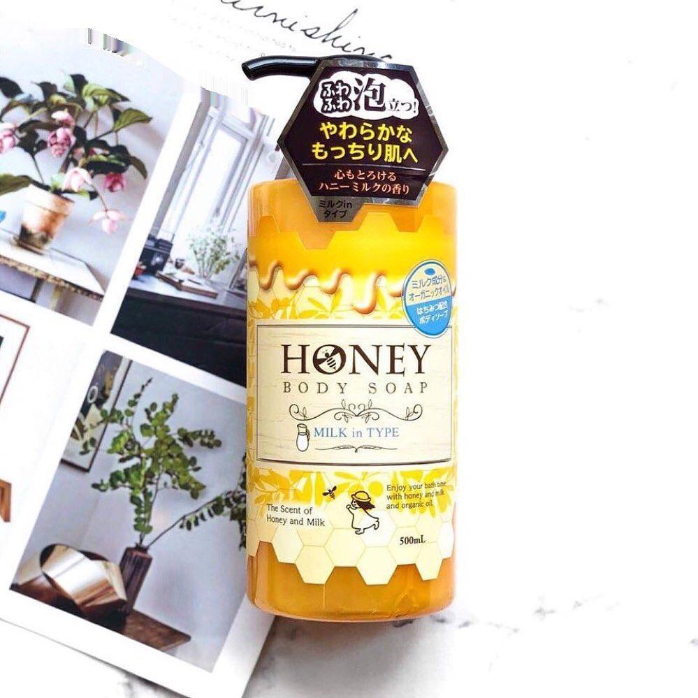 sữa tắm dưỡng trắng da honey