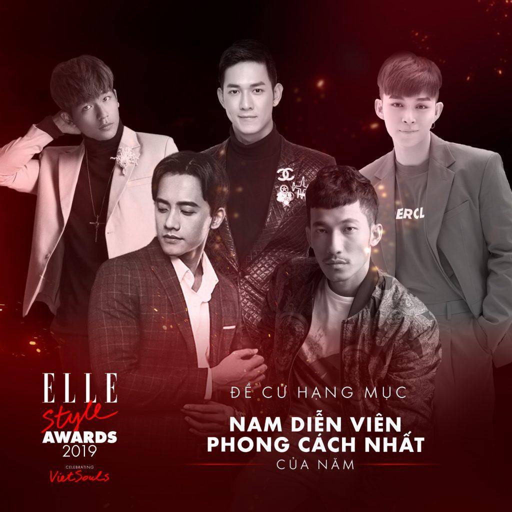 ELLE Style Awards 2019 - bình chọn hạng mục nam diễn viên phong cách nhất