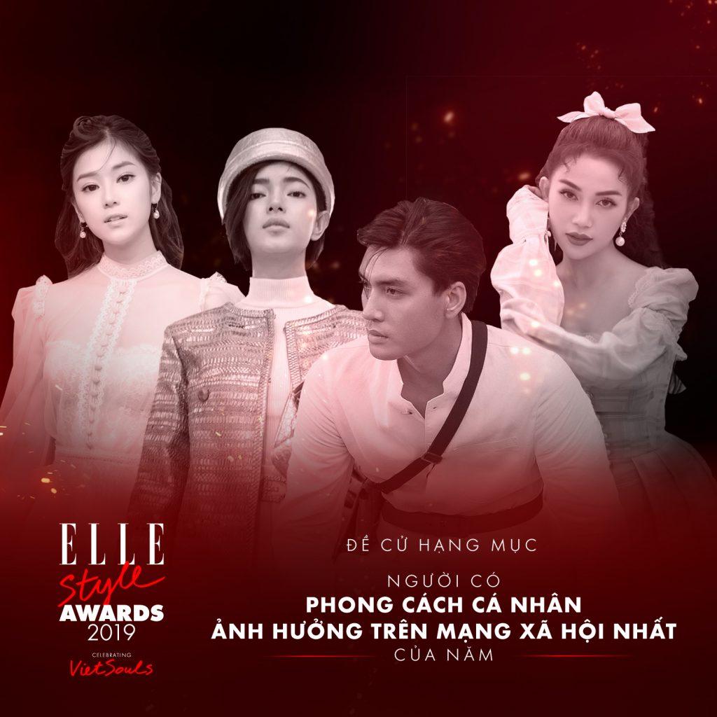 ELLE Style Awards 2019 bình chọn hạng mục phong cách cá nhân