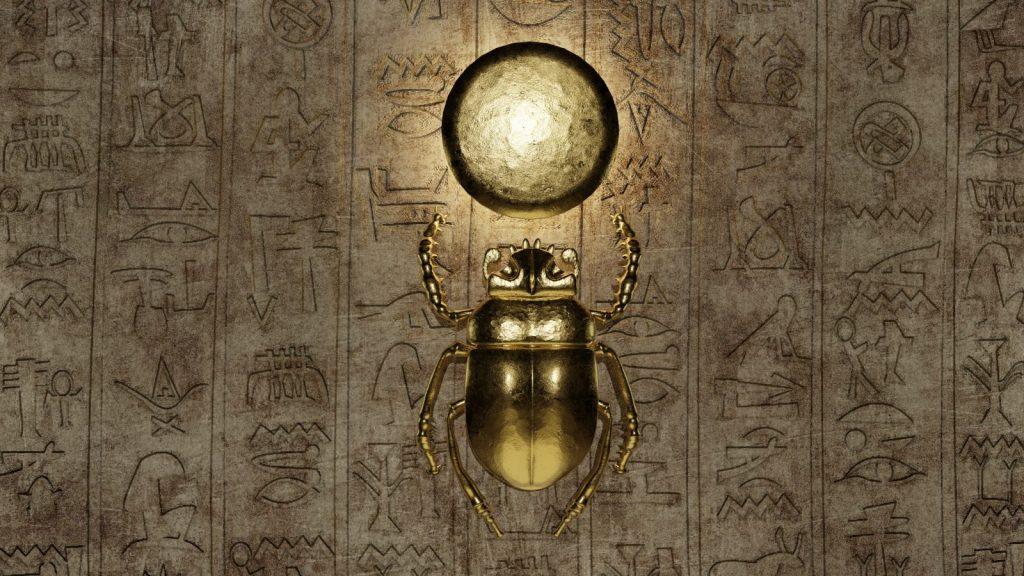 biểu tượng may mắn con bọ hung ở ai cập
