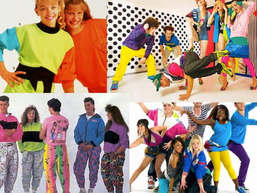 Phong cách thời trang vintage và retro với quấn áo đầy màu sắc, năng động những năm 80s