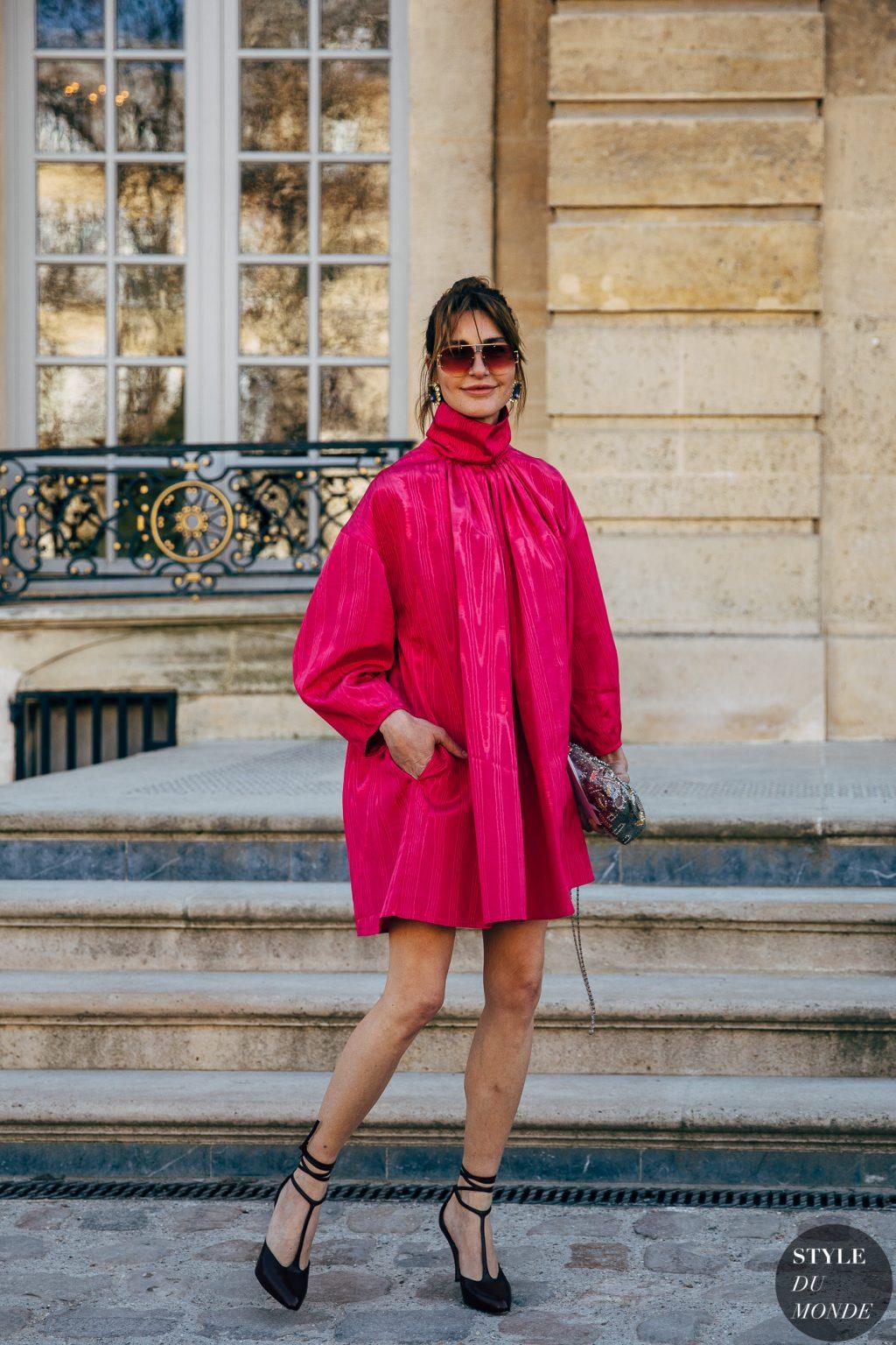 tuần lễ thời trang paris đầm hồng dior