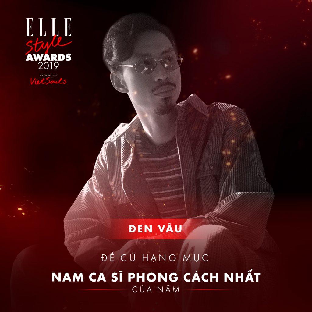 Đen Vâu hạng mục nam ca sĩ phong cách nhất ELLE Style Awards 2019