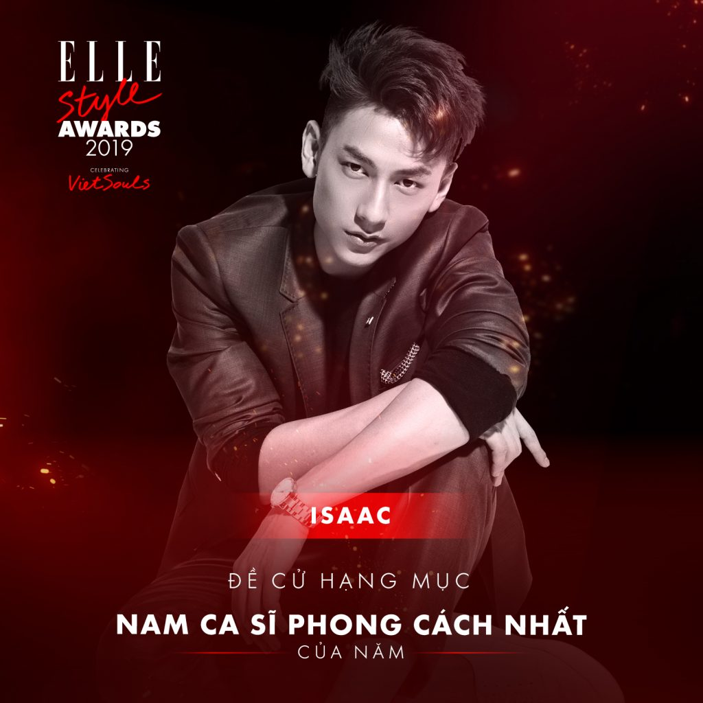 Issac hạng mục nam ca sĩ phong cách nhất ELLE Style Awards 2019