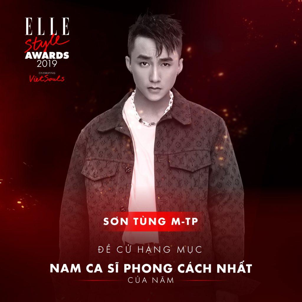 Sơn Tùng M-TP hạng mục nam ca sĩ phong cách nhất ELLE Style Awards 2019