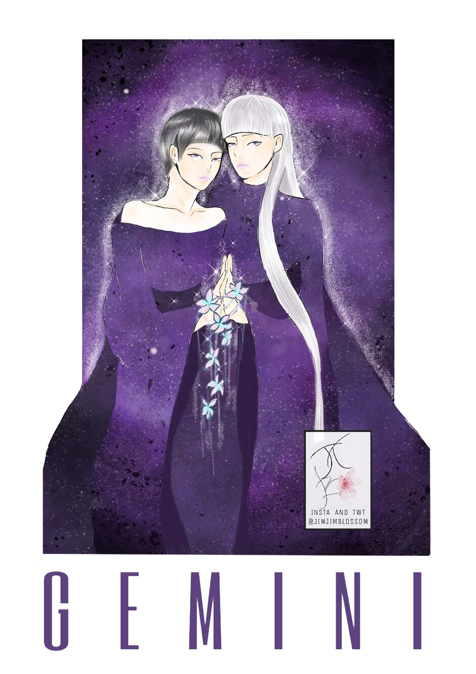 Cung hoàng đạo Song Tử với hình ảnh hai cô gái song sinh