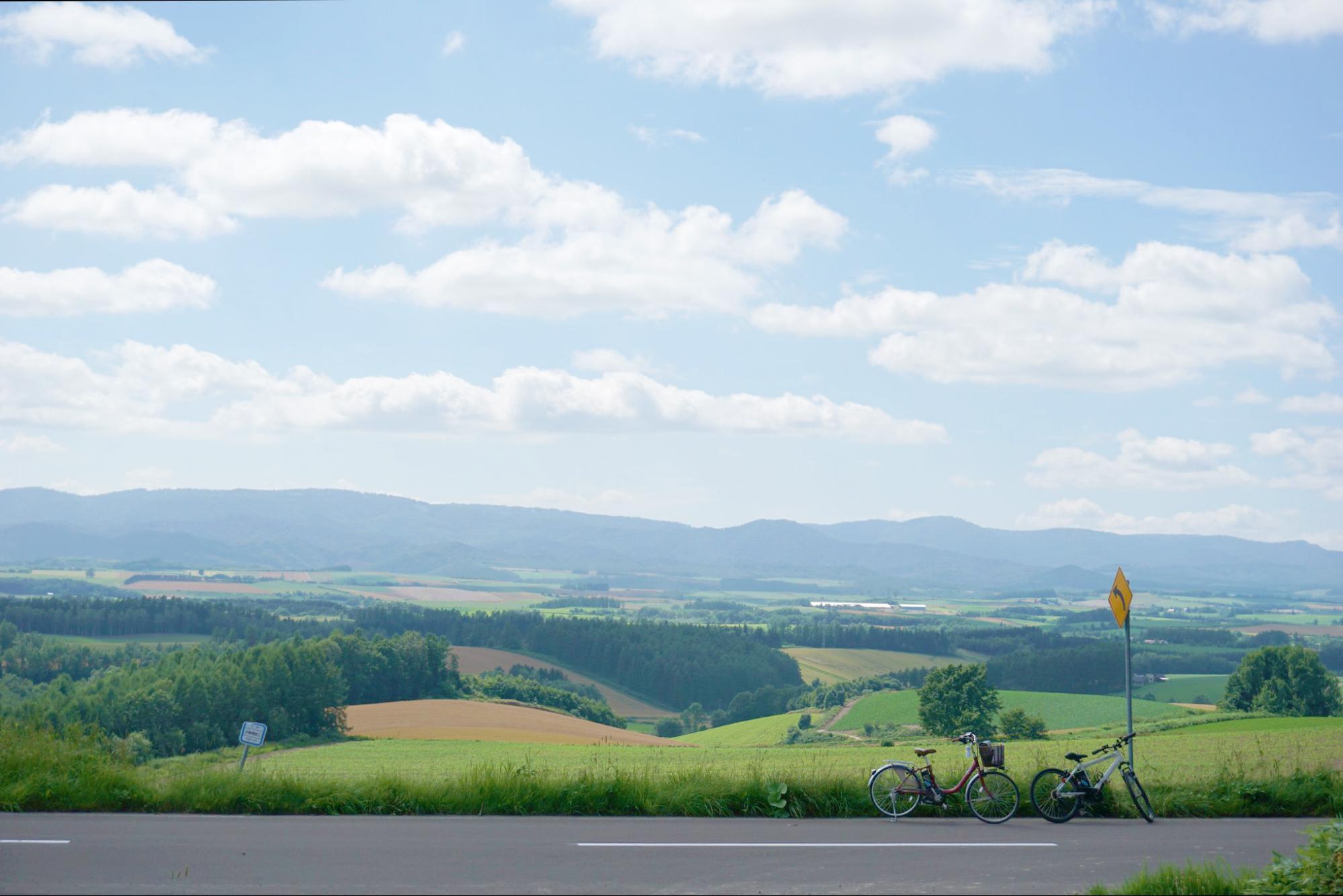 những cánh đồng xanh ở Hokkaido